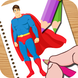 Super Hero Coloring Easy Kids for PC and MAC