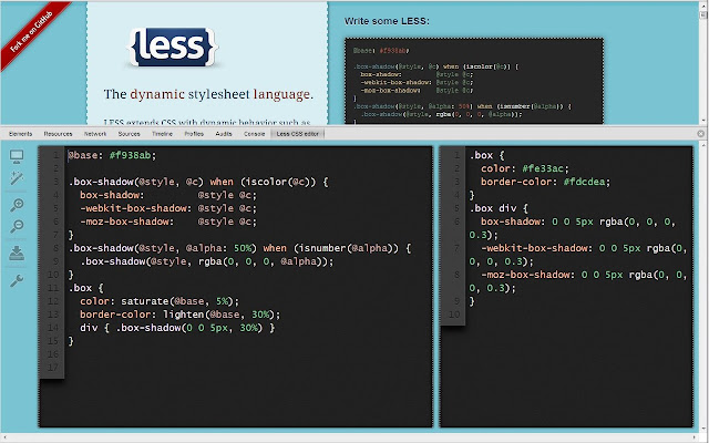 Less CSS creator