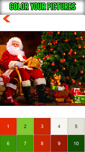 Santa Claus Pixelart: Christmas Color by Number - screenshot
