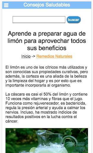 Consejos Saludables Screenshot