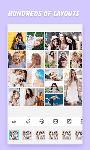 Snap Photo Collage- photo layout, frame, scrapbook Android App Screenshot