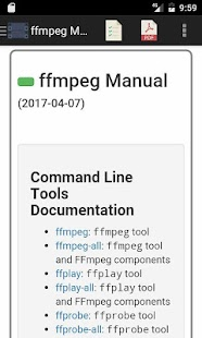 ffmpeg Reference Manual - náhled