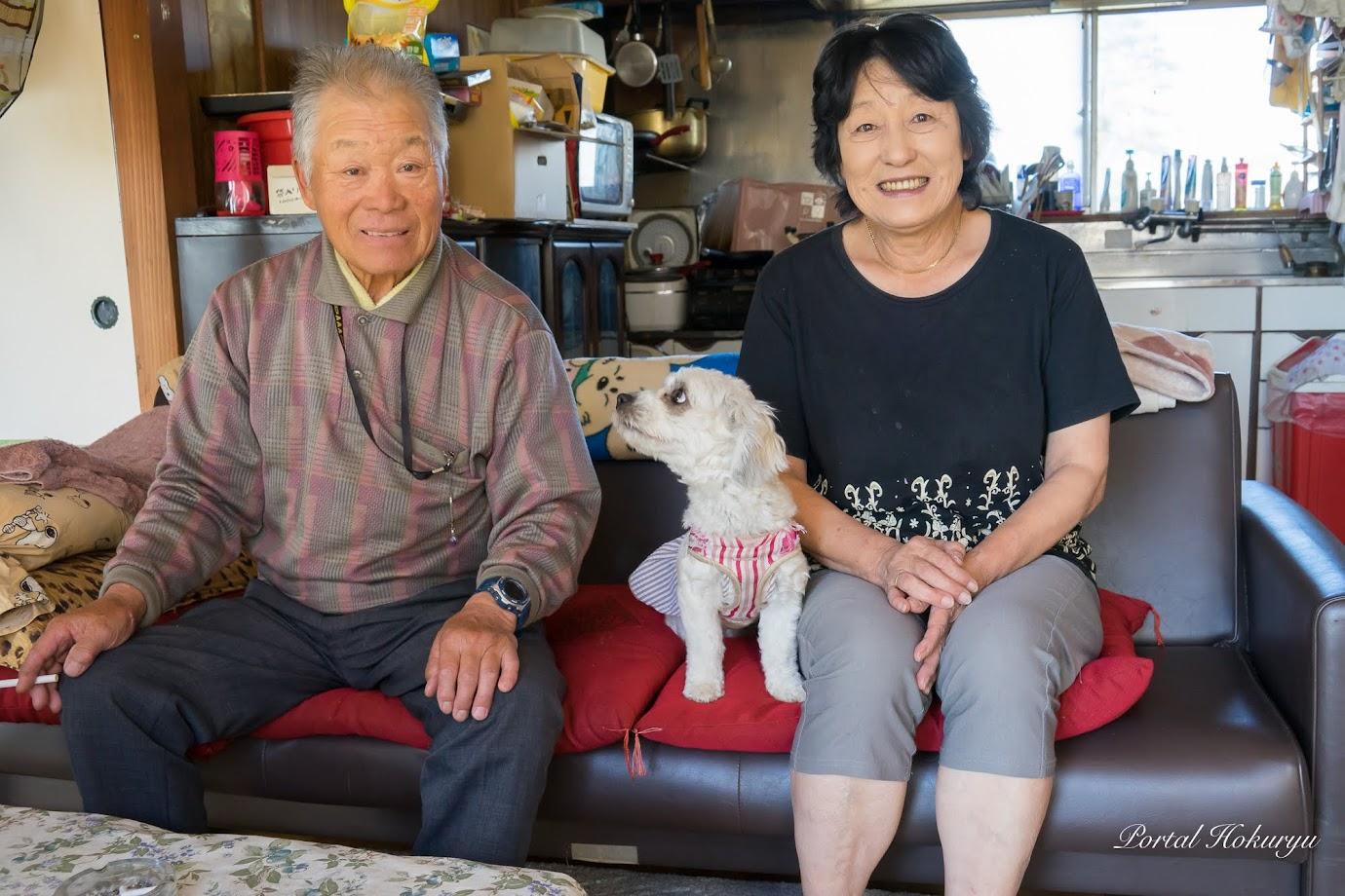 重光さん(75歳)、ミミちゃん、久美子さん(67歳)