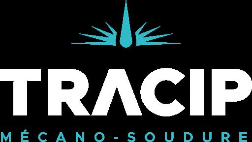 Logo Tracip Mécano - Blanc