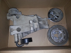 """Photo: I scored a harmonic ballancerand accessory bracket from a 2.0L """"ABA"""" engine, this is a direct fit on the 1.8L """"AEB"""" engine so that it can be converted totransversemounting style found in the Cabriolet"""