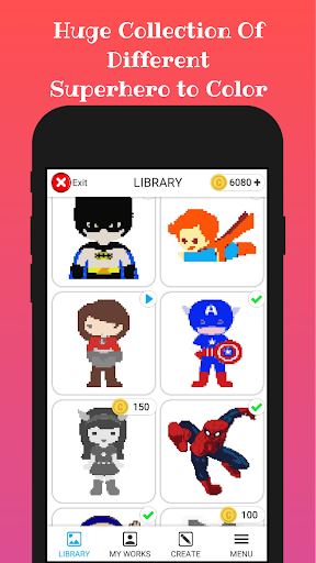 Superhero Color By Number 1.0.2 screenshots 2