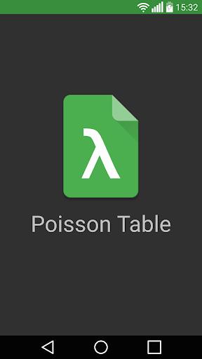 Poisson Table