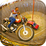 Well Of Death Car Stunt Rider Icon