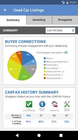CARFAX for Dealers Screenshot