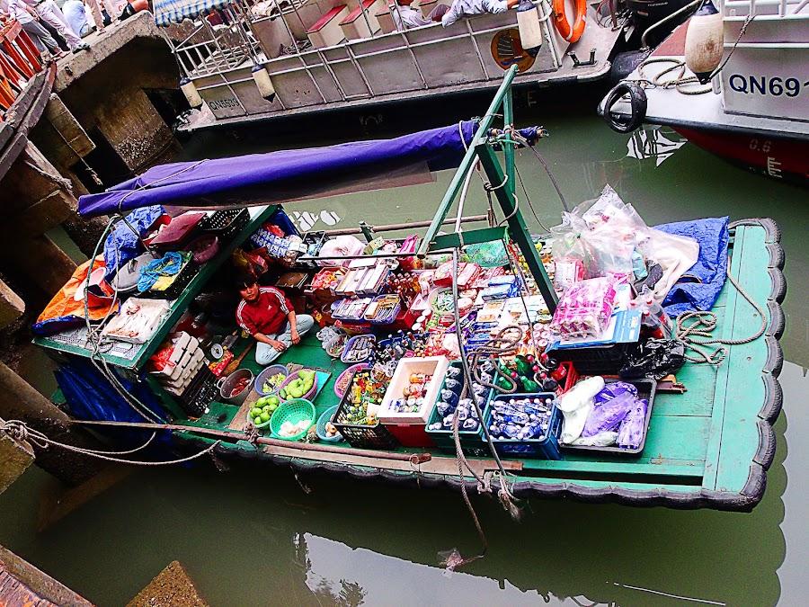 Floating Market by Aisa Mijeno - City,  Street & Park  Markets & Shops ( market, bay, floating, vietnam, halong )
