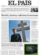 Photo: Merkel y Sarkozy rediseñan la UE y la fiscalía pedirá la imputación de Urdangarin. Son nuestros temas de portada http://www.elpais.com/static/misc/portada20111110.pdf
