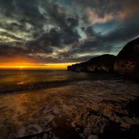 Sunrise at Flamborough Head by Andrew Holland - Landscapes Sunsets & Sunrises