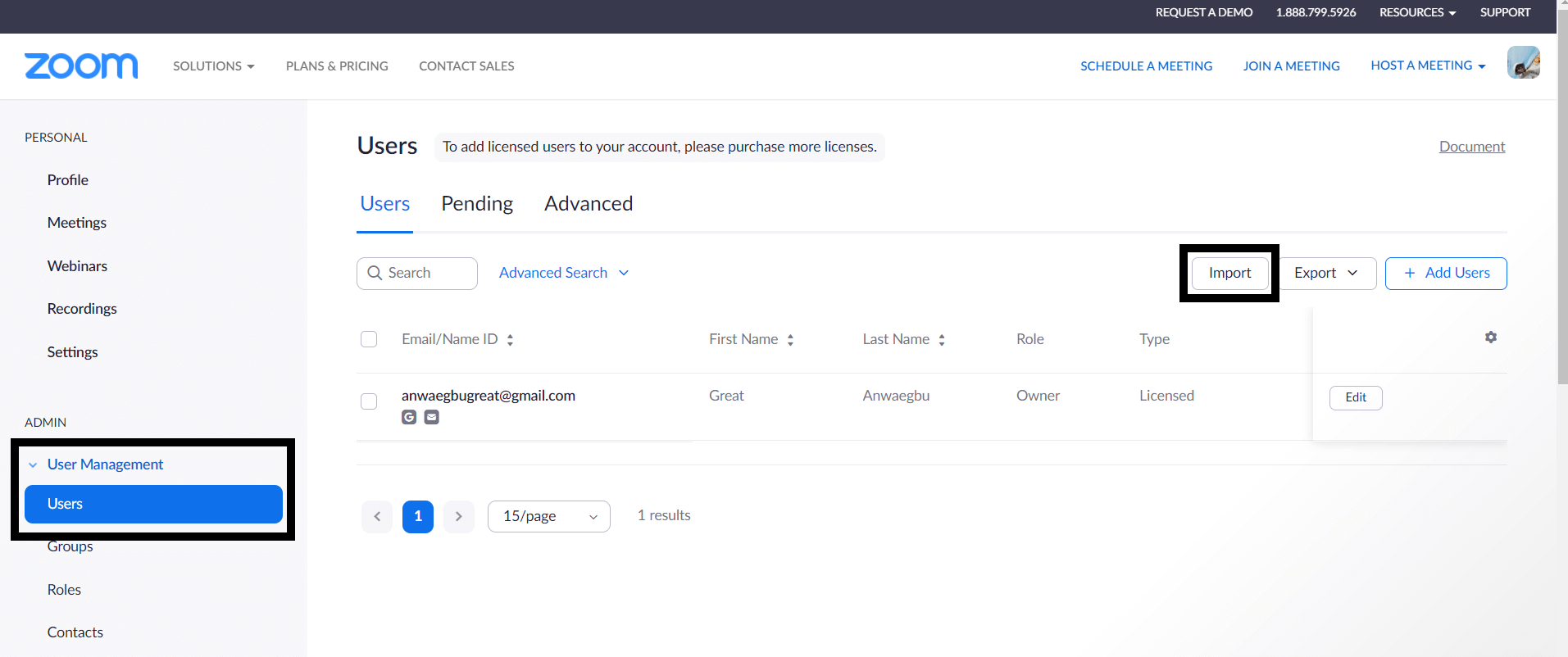 Import Microsoft Teams data to Zoom