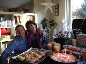 Photo: Juliane kam zum Lunch und Kaffee an meinem Geburtstag vorbei - bevor wir die Familie vom Flughafen abgeholt haben.