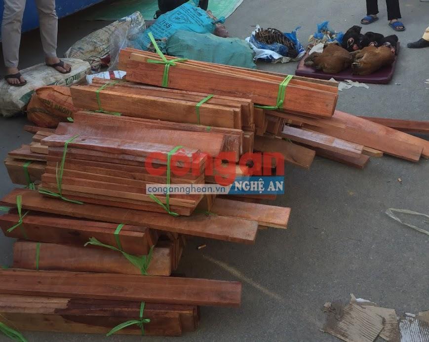 Hơn 3 mét khối gỗ đinh hương được cất giấu trong xe ô tô