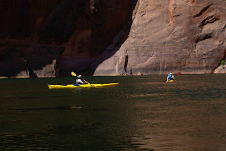 Photo: Norma uses Mindy's kayak (it's more fun).