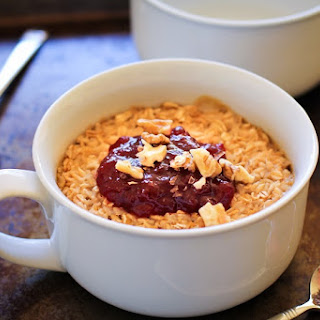 Peanut Butter & Jelly Baked Oatmeal.