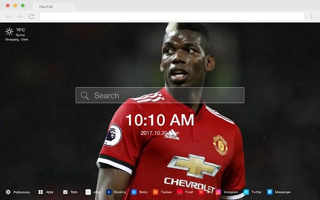 Paul Pogba New Tabs HD Football Themes