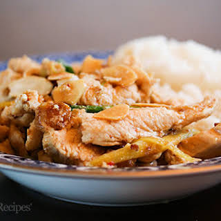 Ginger Chicken with Almonds.