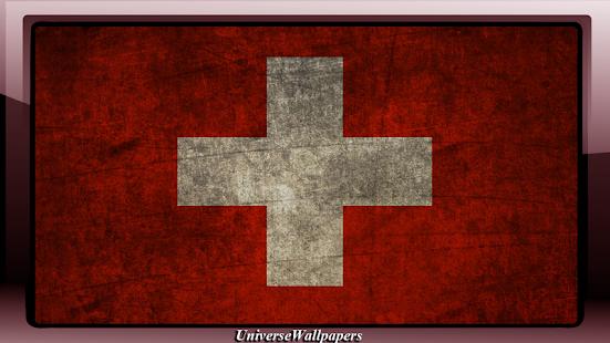 Switzerland Flag Wallpaper - náhled