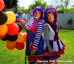 Photo: Our fun clowns are great for children's birthday parties in Riverside County. Call to book Bibi today: 888-750-7024