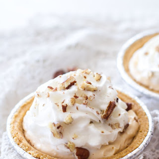(Lighter) Pumpkin Pecan Cream Pie