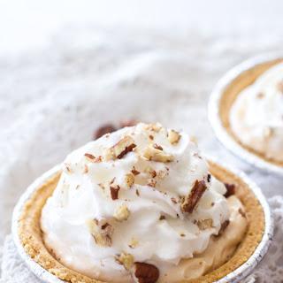 (Lighter) Pumpkin Pecan Cream Pie