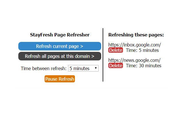 StayFresh Page Refresher