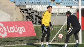 Fernando en un entrenamiento con Ricardo Molina.