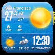 Weather Clock Widget on Homescreen QQ8 R3D3 C5PO