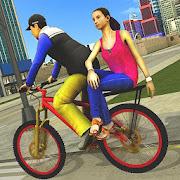 BMX Bicycle Taxi Driving City Passenger Simulator