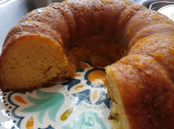 Orange Sour Cream Pound Cake W/ Orange Glaze Recipe