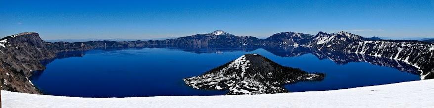 Photo: Panoramic view of Crater Lake