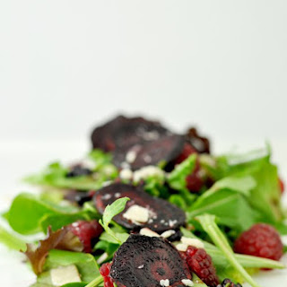 Fried Beet Arugula Salad