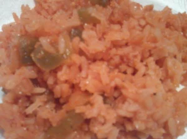Mexican Rice With Green Peppers And Onion (my Own)__bebita Recipe