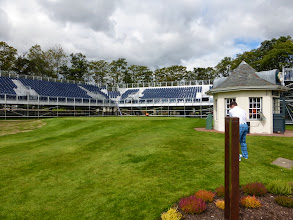 Photo: Al warming up before his opening tee-shot at Gleneagles on the Ryder Cup Course