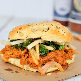 Braised Pork Sandwiches with Jicama Kale Slaw