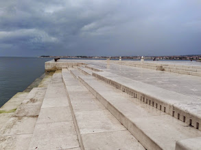 Photo: A sea organ with 35 underwater pipes was built here in 2005.  The pipes play seven chords and five tones, all powered by the action of the waves.