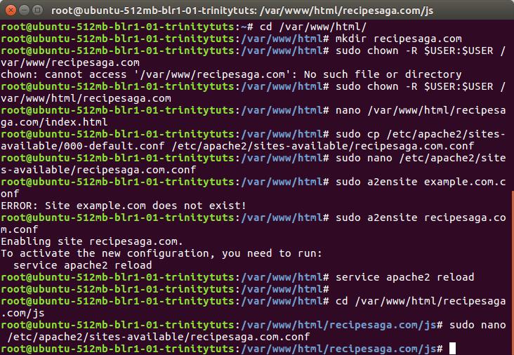 Setup Apache virtual host on Cloud VPS - TrinityTuts