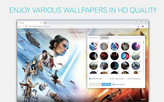 Star Wars The Rise of Skywalker Custom NewTab