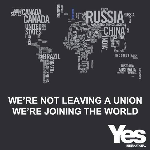 We're not leaving a Union wr're joining a world