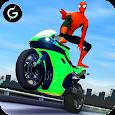 3D Hero Super Spider Rider - Moto Traffic Shooter