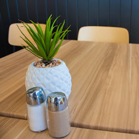Lunchtime by Daniel Wheeler - Artistic Objects Furniture ( plant, cafe, pepper, lunch, salt )