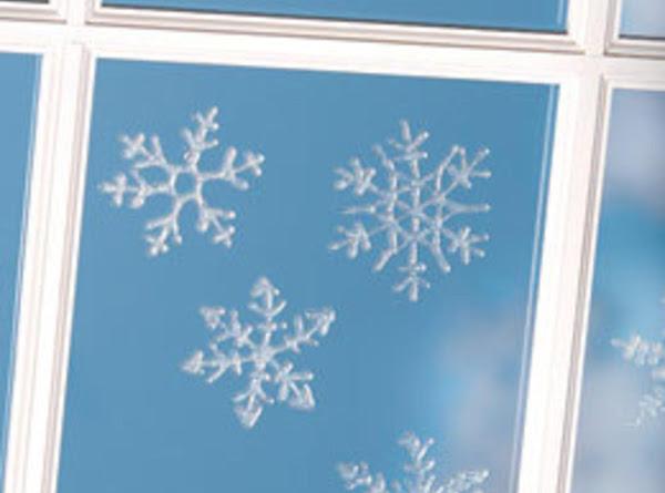 Glittery Window Clings Recipe
