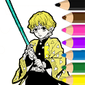 Coloring book for Demon Slayer icon