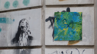 Photo: Kachel Kachel; MYZEL GRAPHIX & Stencil; Unknown Artist