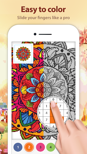Mandala Color by Number: Coloring Book for Adults - screenshot