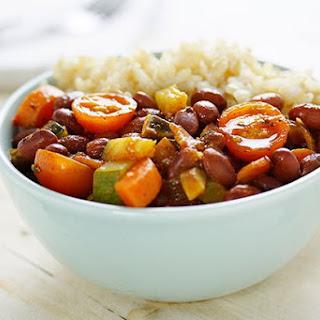 Vegetarian Mexican Beans & Rice.