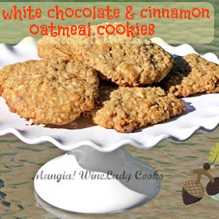 White Chocolate and Cinnamon Oatmeal Cookies