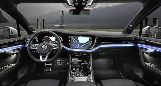 The interior is superb and dominated by that Innovision touchscreen. Picture: VOLKSWAGEN